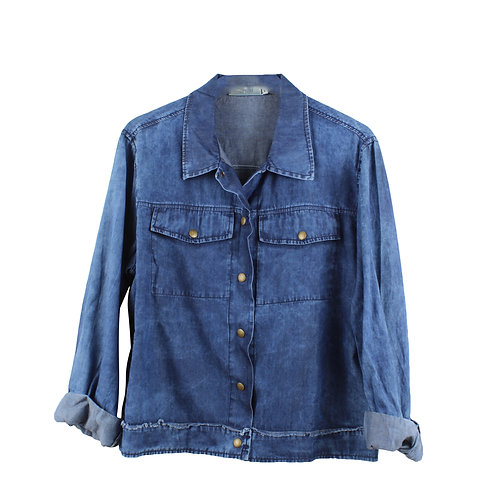 M\L   OPIUM חולצת ג׳קט ג׳ינס