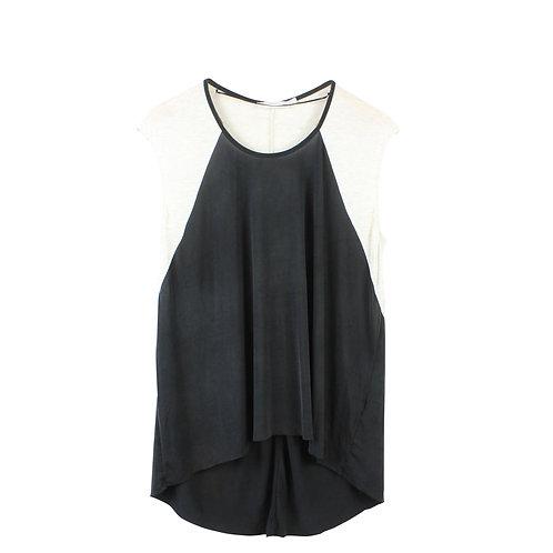 M | ZARA חולצה שחור אבן