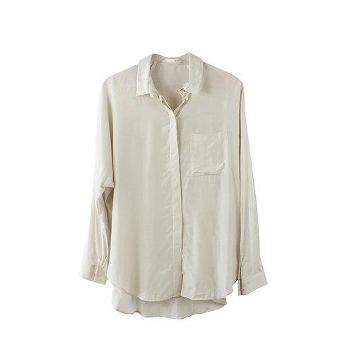 M | OUI חולצת ויסקוזה שמנת