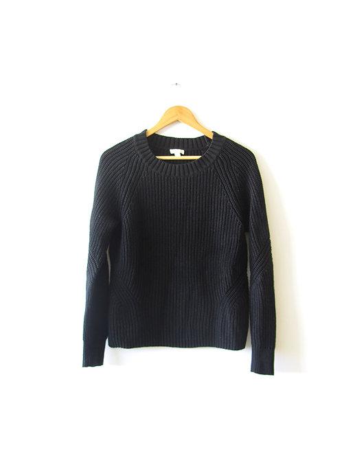 S cozy סוודר שחור