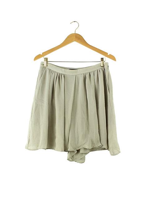 מכנסי חצאית אפורים דקיקים- 38