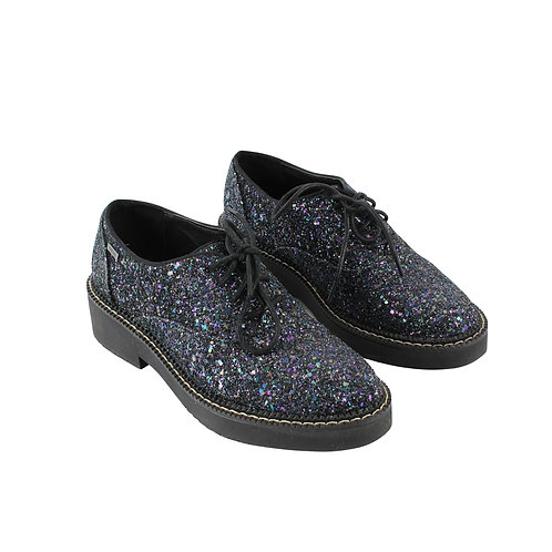 37   mtng נעלי אוקספורד גליטר