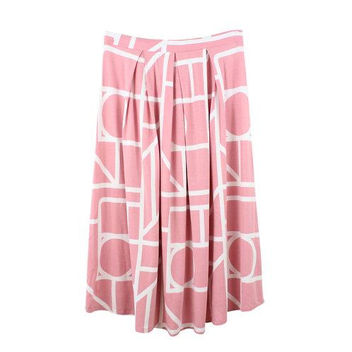 M | ASOS חצאית הדפס ורוד