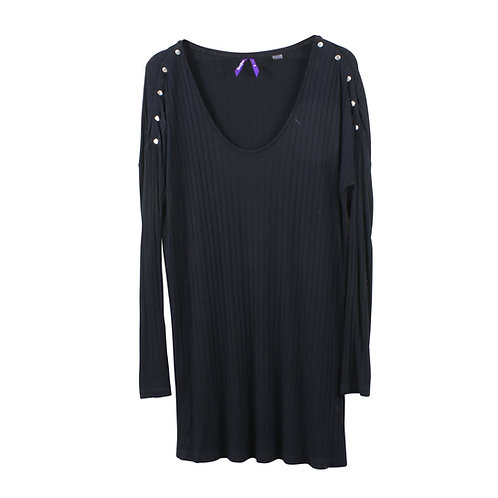 M/L   Seraphine חולצת הריון והנקה שחורה
