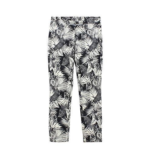 S | UNIQLO מכנסי סטרץ׳ עלים
