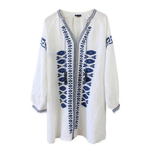 M | Warehouse שמלת גלביה פשתן
