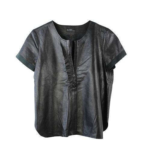 M | Sack's    חולצת עור שחורה
