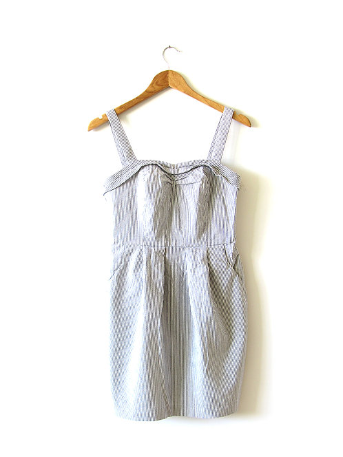 שמלת פסים כתפיות מידה 38