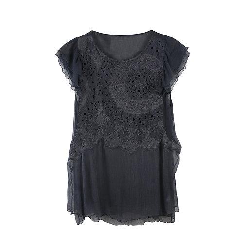 M | Zadig & Voltaire חולצת שיפון רקמה