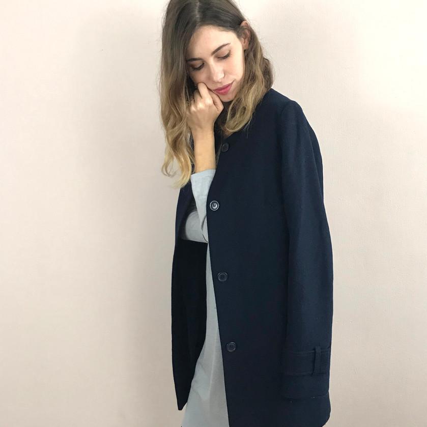 מעיל צמר כחול: H&M