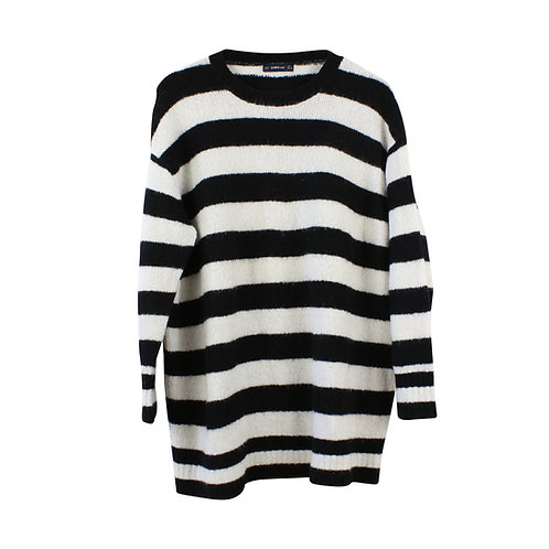 L/XL | ZARA סוודר פסים