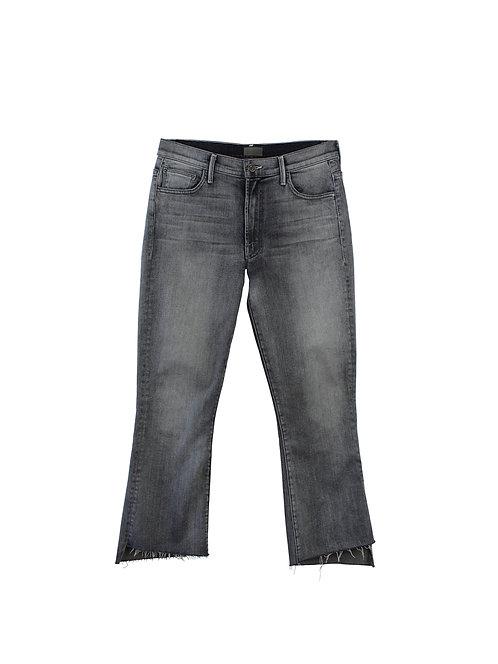 30 | MOTHER  מכנסי גינס קרופ אפורים