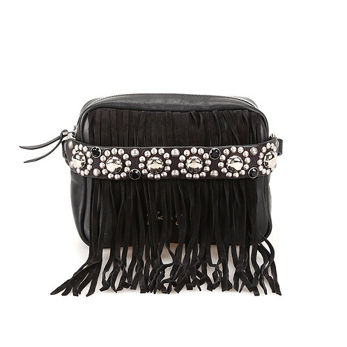 GOLDEN GOOSE | Camera Bag - Black Fringes