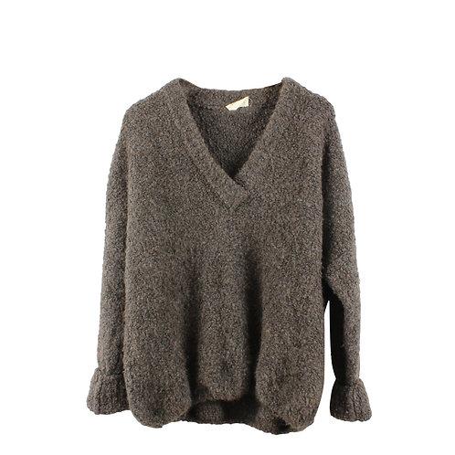 L   American Vintage סוודר צמר חום