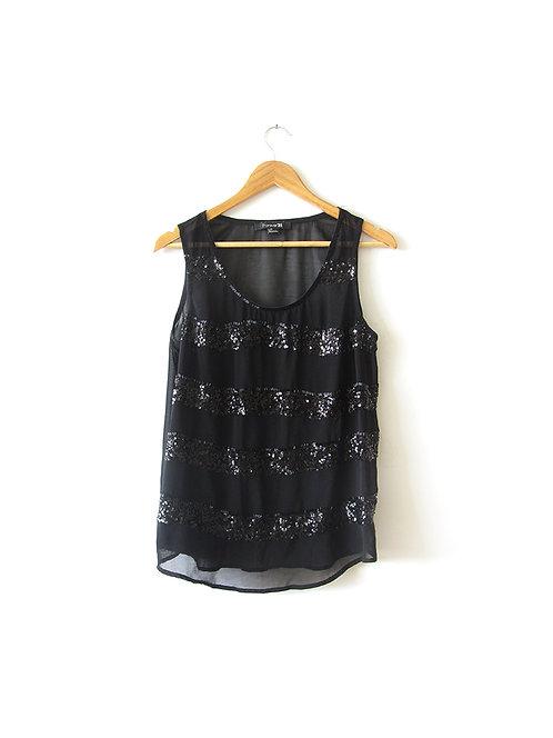 L חולצת שיפון פייטית
