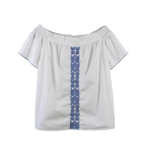 L | NAUTICA חולצה אוף שולדרס