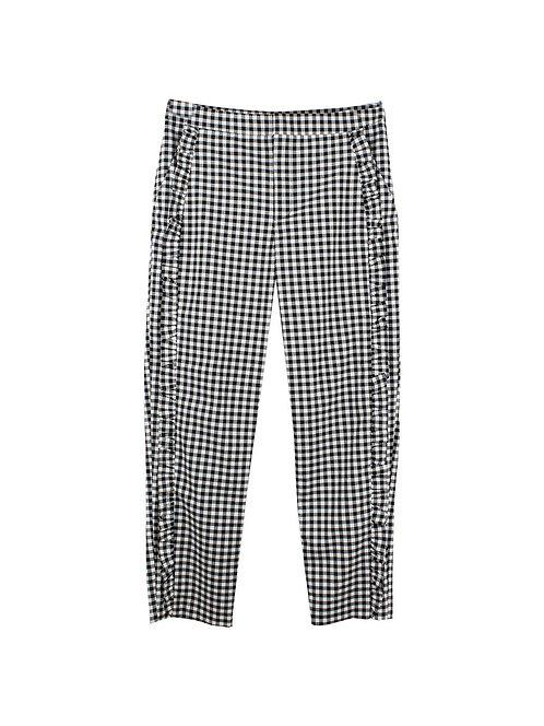 M | מכנסיים משבצות שחור לבן