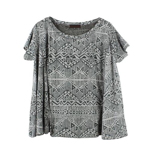OS | JULIE חולצת אוברסייז מודפסת