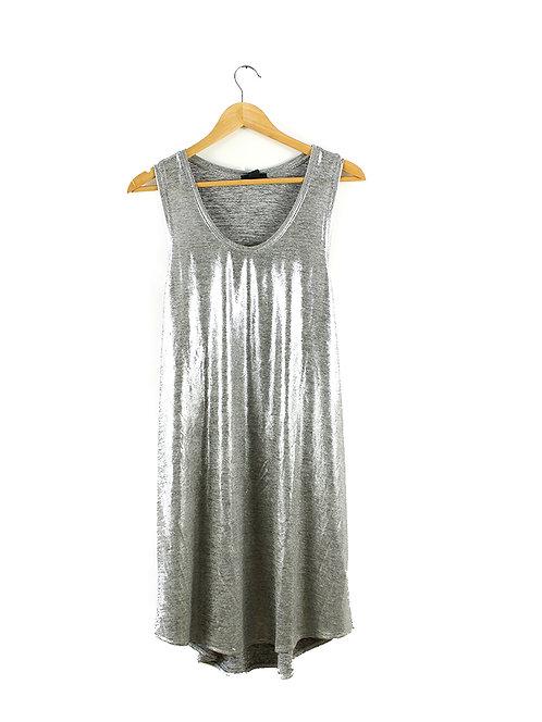 XL שמלת טוניקה מטאלית