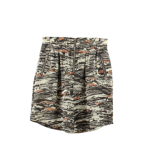 S/M | RHUS OVATA חצאית משי מודפסת