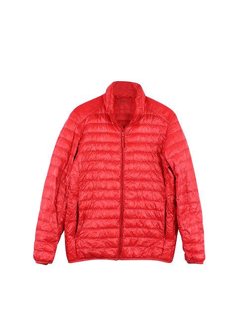M | UNIQLO מעיל פוך דק אדום