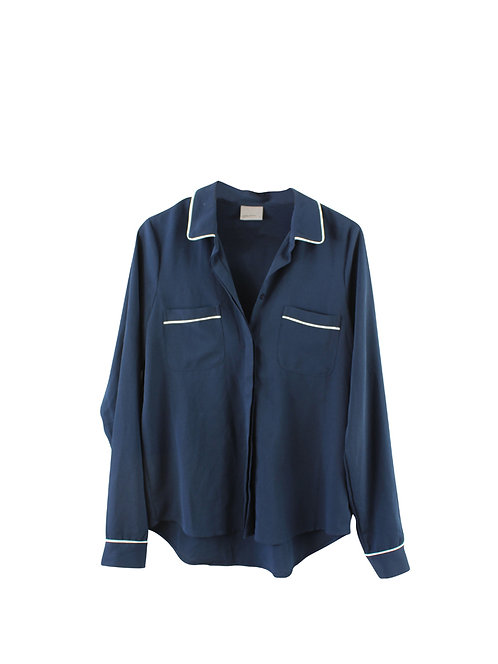 M | VERO MODA חולצת צווארון כחולה