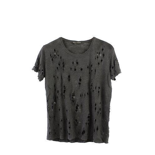 M | GOLF DODO BAROR חולצה שחורה מחוררת
