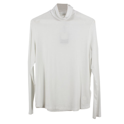 XL | MASSIMO DUTTI חולצת גולף לבנה