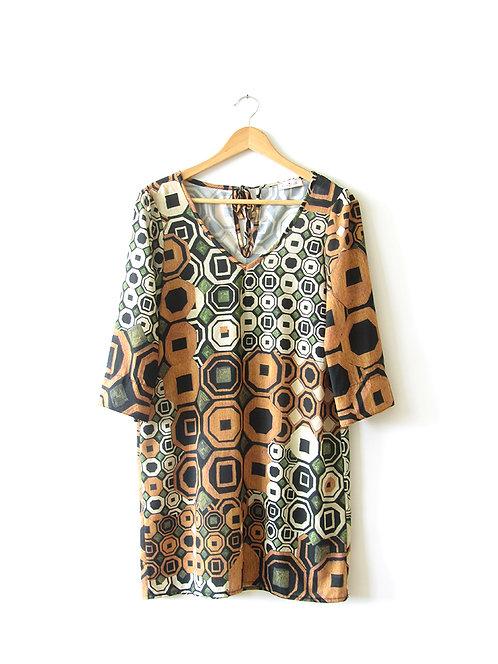 OS שמלת שנות ה 70' מידה