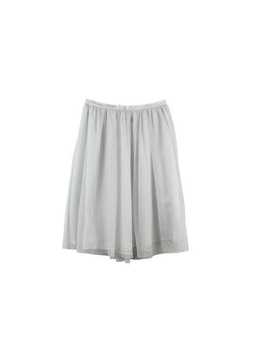L   ZARA חצאית טול אפורה