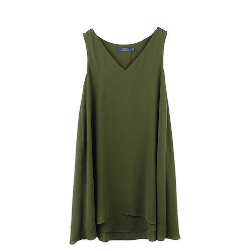 S | POLO RALPH LAUREN שמלת ערב בירוק זית