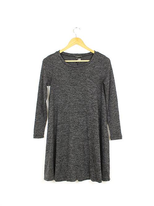 S שמלה/טוניקה אפורה כהה מתרחבת