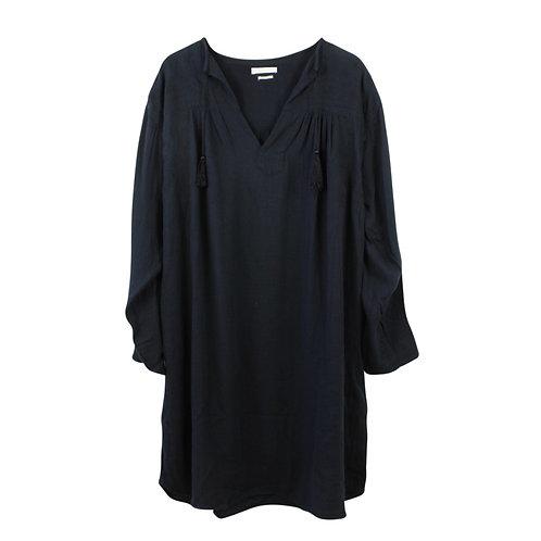 L | ISABEL MARANT ETOILE שמלת כותנה שחורה