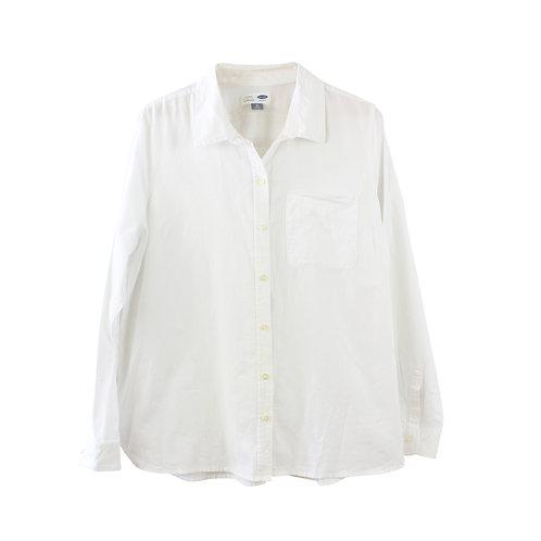 XL | OLD NAVY חולצה מכופתרת לבנה