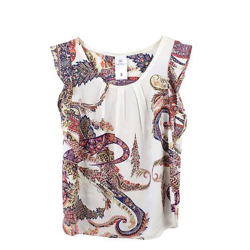L   KAREN MIZRAHI חולצת פייזלי