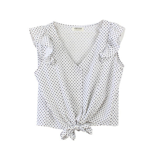 S\M | yanga חולצת קשירה נקודות