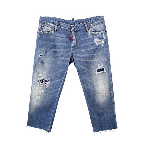 L | DSQUARED ג׳ינס ווש קרעים