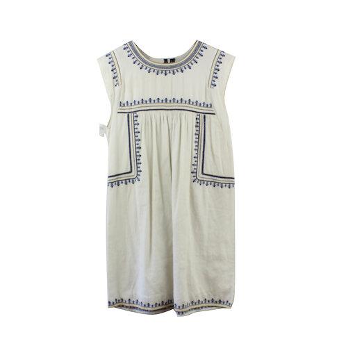 XS   שמלה לבנה רקומה