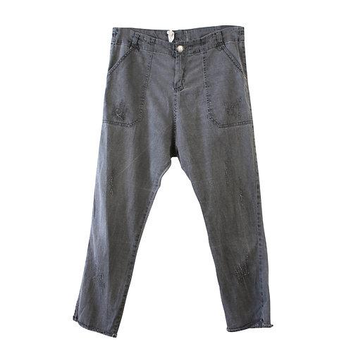 L | MADE ג׳ינס ווש אפור