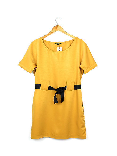 S שמלת חרדל אוברסייז