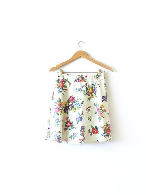 M חצאית פרחונית מידה