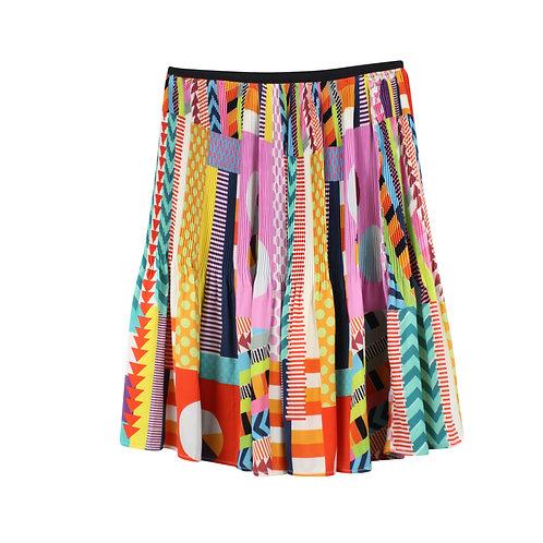 XS   DESIGUAL חצאית פליסה