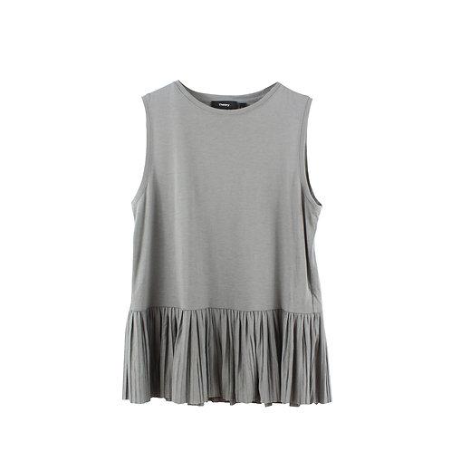 S/M | THEORY חולצת פפלום אפורה