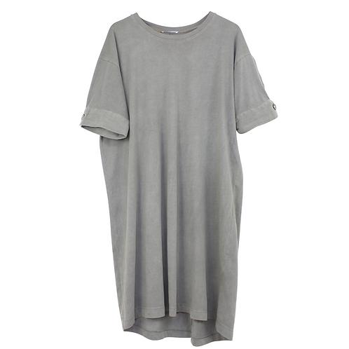 L | ZARA שמלת טישרט חאקי