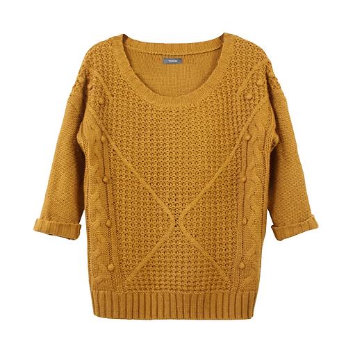 M | סוודר חרדל