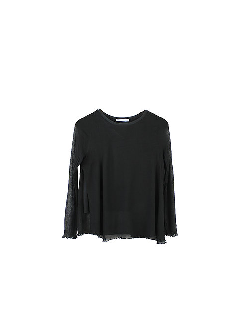 M | ZARA חולצת ויסקוזה שחורה