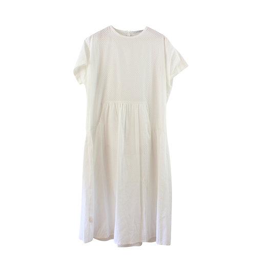 L   AVIVA ZILBERMAN  שמלת מידי לבנה