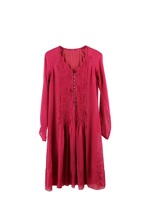 M | 120%  שמלת משי