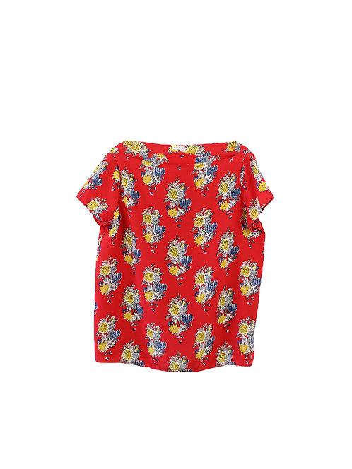 M/L | MIU MIU חולצת משי פרחונית