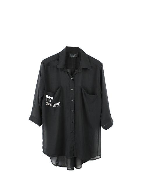 M\L | Dana Ashkenazi  חולצת שיפון מכופתרת